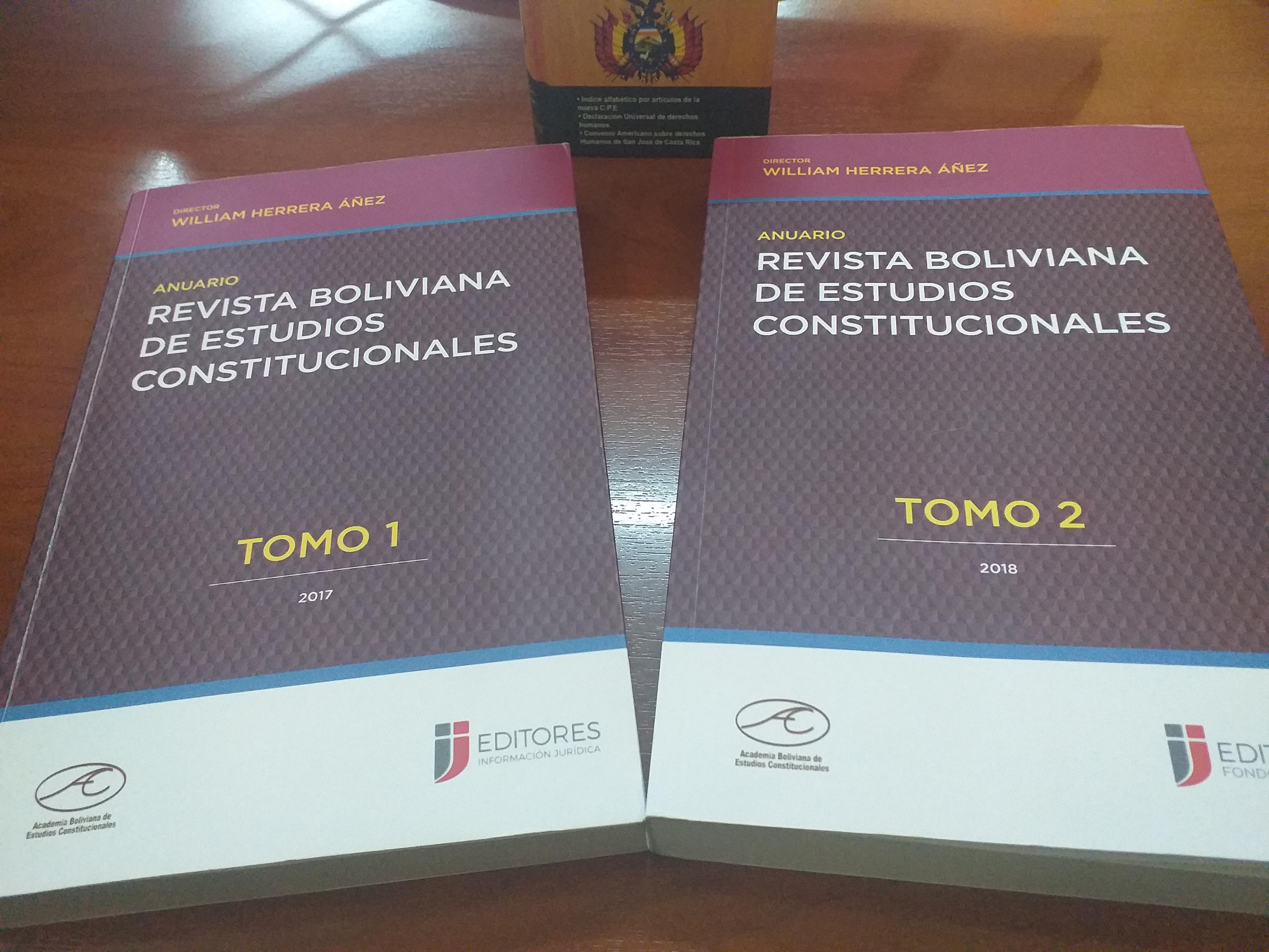 EL ANUARIO DE LA REVISTA BOLIVIANA DE ESTUDIOS CONSTITUCIONALES