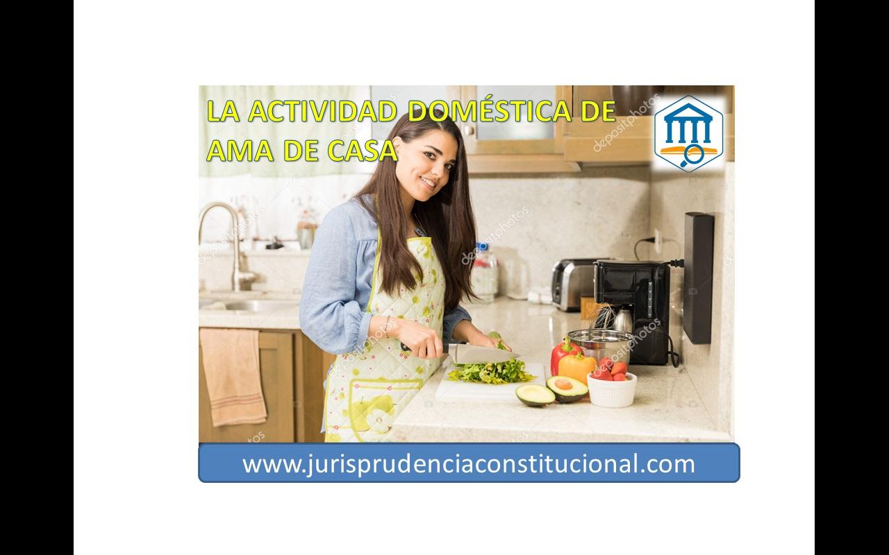 Acreditación y valoración de la actividad doméstica de ama de casa (art. 234.1 del CPP)