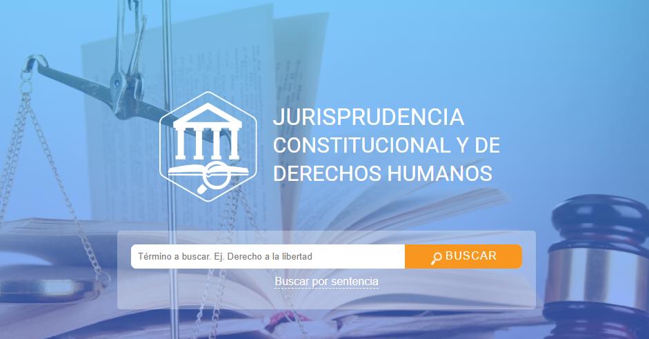 MANUAL DE USO - JURISPRUDENCIA CONSTITUCIONAL Y DE DERECHOS HUMANOS